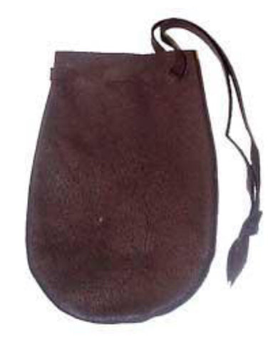 "Leather Pouch 3 1/2"" x 5 1/2"""