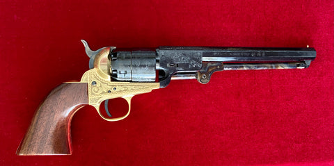 Traditions 1851 Navy Revolver .44 cal Brass Engraved Percussion Cap Muzzleloader