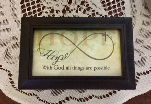 Music Box: Hope, with God All Things Are Possible