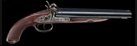 Pedersoli Howdah Hunter 20ga Double Barrel Side by Side Shotgun Pistol Percussion