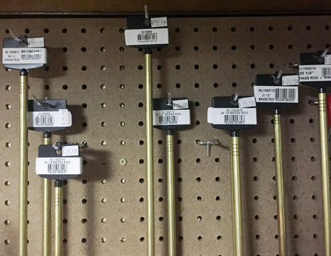 BRASS RAM ROD for MUZZLELOADERS Various Lengths