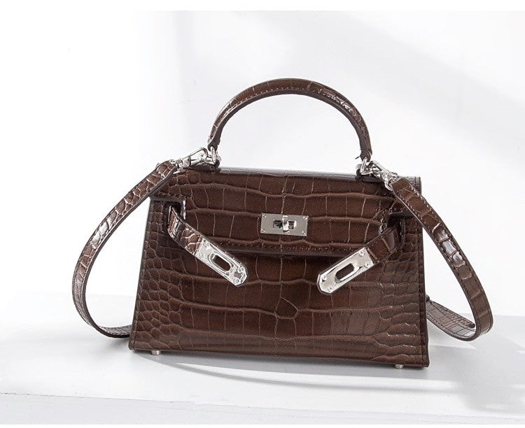 Taupe mini 'Kelly' bag