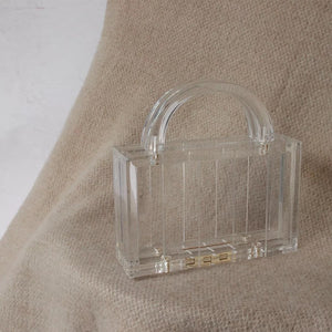 Lucite top handle bag