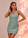PRE ORDER  Mint 'Summer lights' strappy mini dress