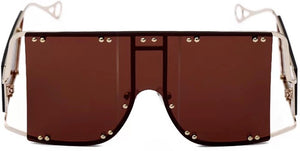 Brown 'Block't' oversized shades