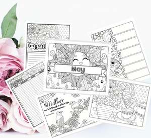 May Themed Coloring Pack