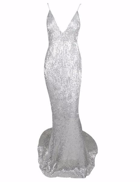 SEQUIN SILVER GOWN