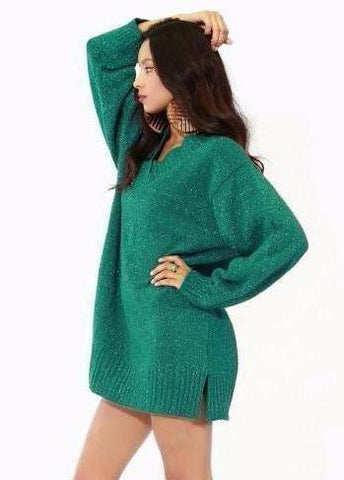 DIANE VON FURSTENBERG SWEATER DRESS - Vintage Glam Shop