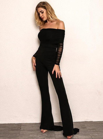 SADA JUMPSUIT BLACK - Vintage Glam Shop