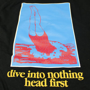 DIVE INTO NOTHING BLACK L/SLEEVE T-SHIRT