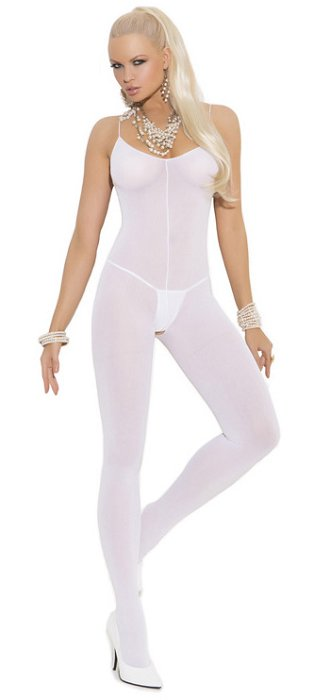 Opaque open crotch bodystocking (EM1601)