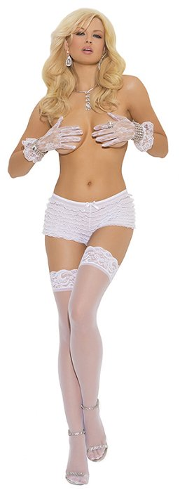 Sheer lace top stocking (EM1721Q)