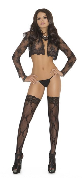 Lace thigh hi with lace top (EM1729)