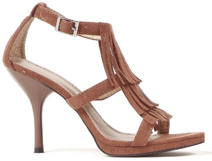 "4"" Heel Sioux Style Fringed Sandal (ES417-Sioux)"