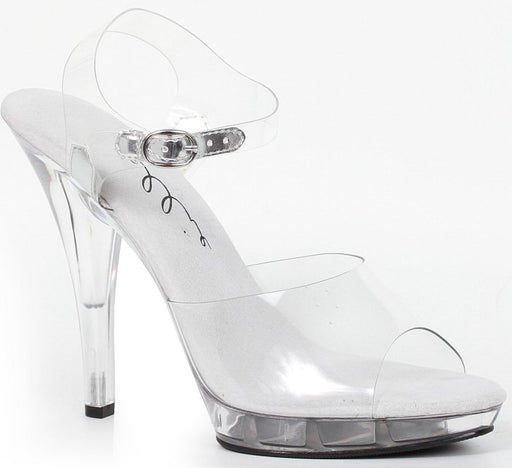 "5"" Stiletto Clear Wide Width Platform (ES521-Brook-W)"