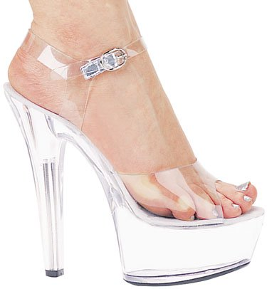 "6"" Stiletto Clear Platform (ES601-Brook)"