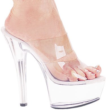 "6"" Stiletto Platform Mule (ES601-Coco Blowout Final Sale)"