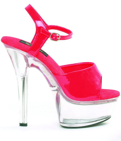 "6"" Stiletto Clear Platform (ES601-Juliet-C)"
