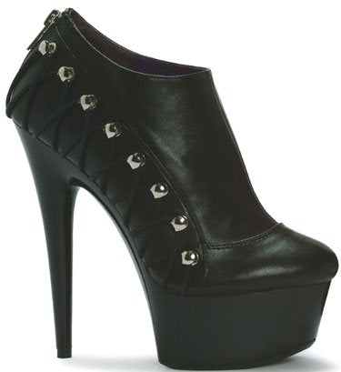 "6"" Stiletto Shoebootie Platform(ES609-BIKER-Blowout Final Sale)"
