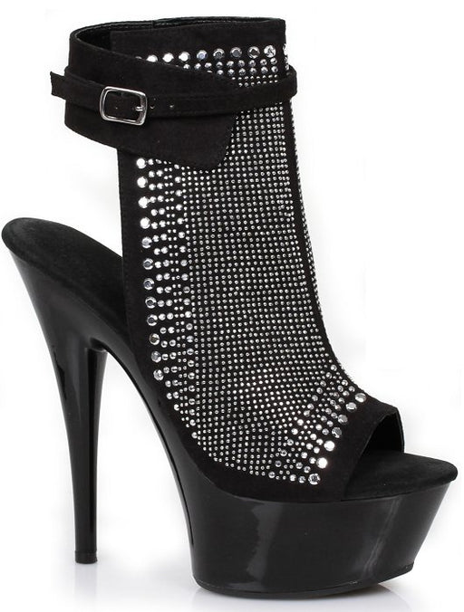 "6"" Peep-Toe Platform(ES609-CHALLIS)(Blowout)(Final Sale)"
