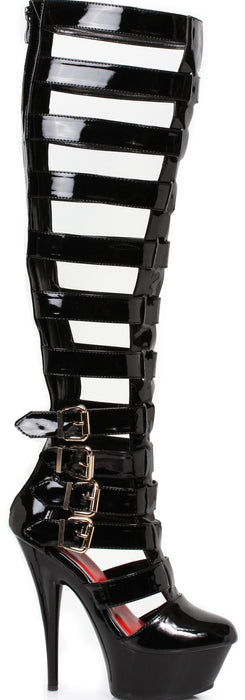 "6"" Knee High Multi-Strap Buckle Platform Boot (ES609-CRUZ)"