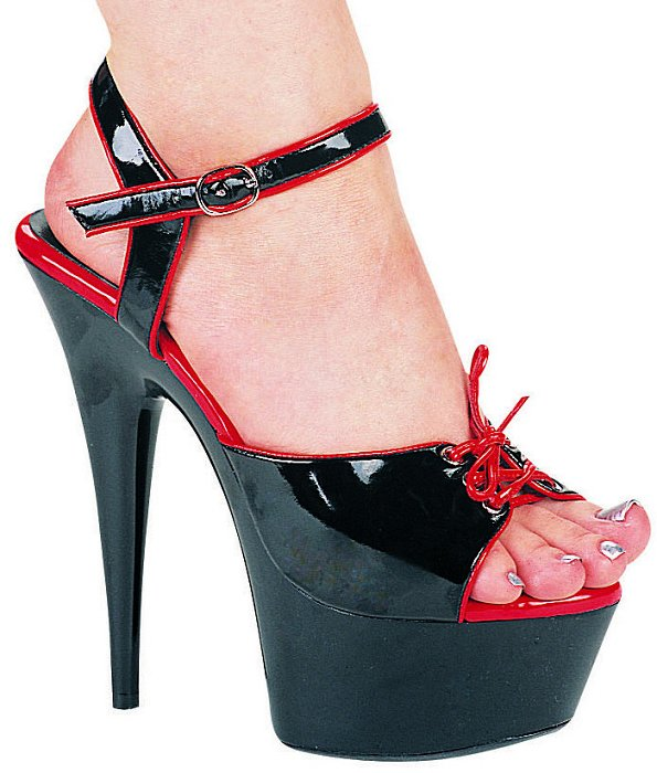"6"" Stiletto Two Tone Sandal (ES609-Tanya)"