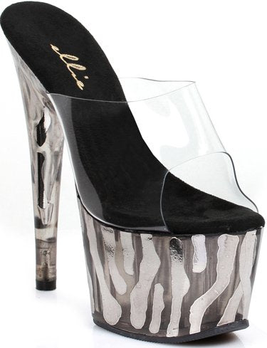 "7"" Stiletto Mule Sandal Platform(ES709-RUGGED)"