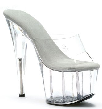"7"" Stiletto Clear Platform (ES709-Vanity)"