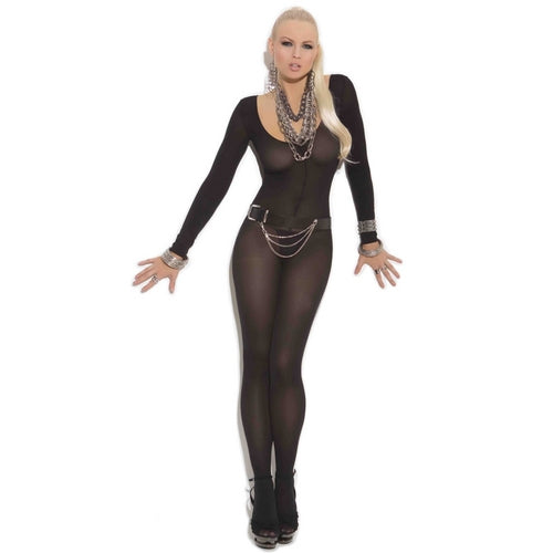 Opaque open crotch bodystocking  (EM1606)