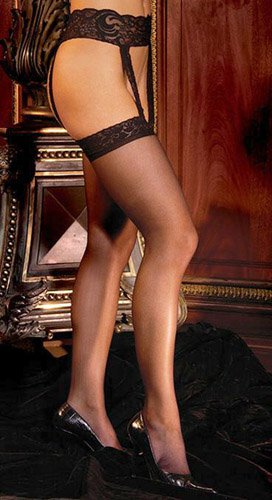 Sheer thigh-hi with lace (EM1714Q)