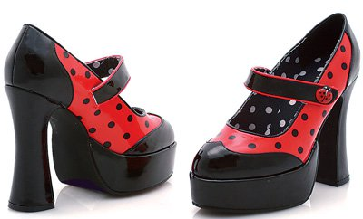 "5.5"" Heel Polka-Dot Ladybug  (ES557-Ladybug)(Blowout)(Final Sale)"