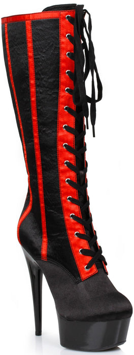 "6"" Satin Knee High Boot (ES609-RAVEN-S)"