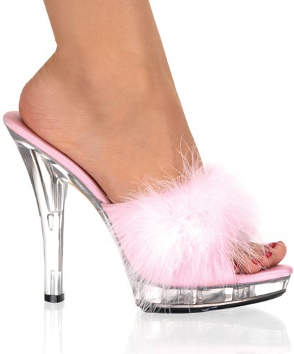 "5"" Stiletto Marabou Slipper (LIP-101-8)"