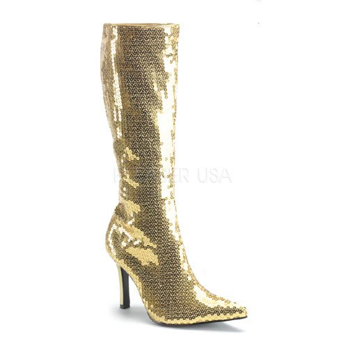 "3 3/4"" Sequins Knee Boots(LUST-2001SQ)"