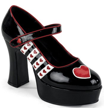 "4"" Queen Of Hearts Platform (QUEEN-55)(Blowout)(Final Sale)"