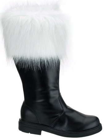 Men's Santa Boot With White Fur Trim (SANTA-100)