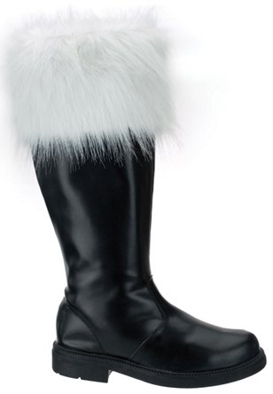 Men's Santa Boot With White Fur(SANTA-108)