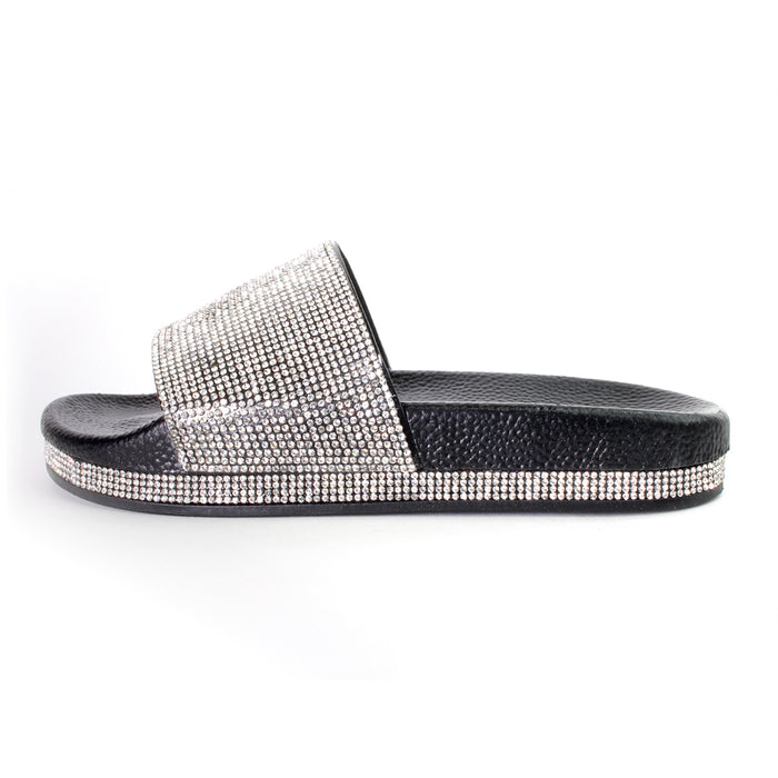 Rhinestone Slide Sandals