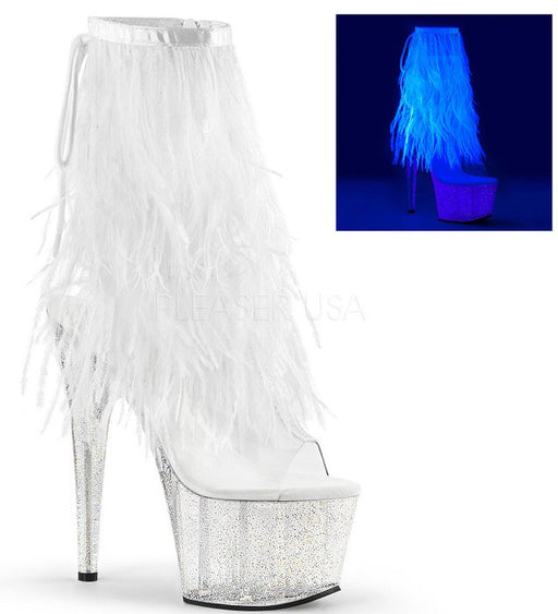 "7"" Heel Open Toe Fringe Ankle Boot (ADORE-1017MFF)"
