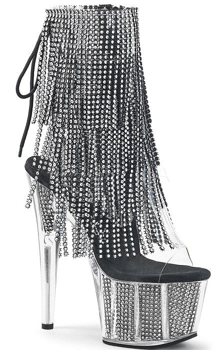 "7"" Heel Open Toe Fringe Ankle Boot (ADORE-1017SRS)"