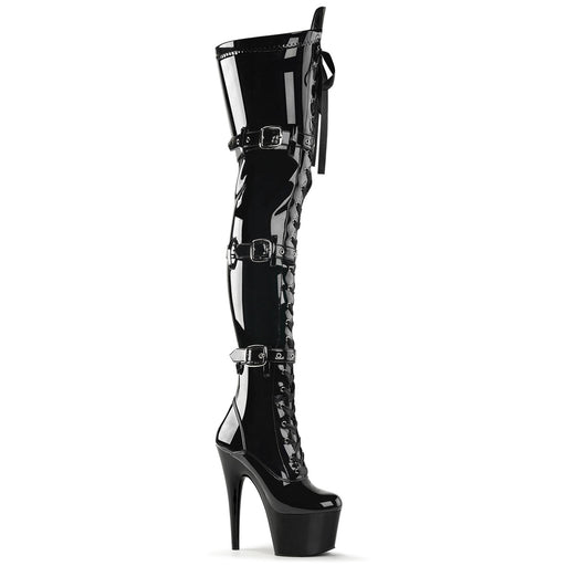 "7"" Lace-Up Buckle Platform Boot  (ADORE-3028)"