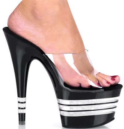 "6 1/2"" Stiletto Lined Platform Slide(ADORE-701LN)"