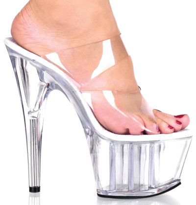 "6 1/2"" Stiletto Two-Band Platform Slide(ADORE-702)"