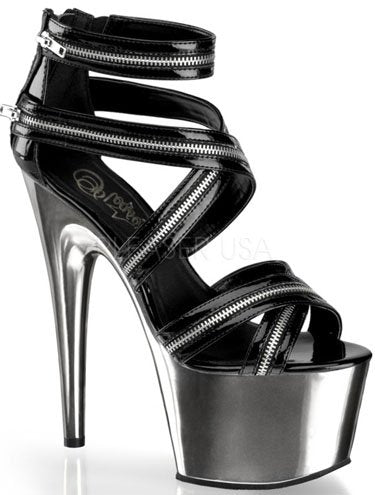 "7"" Criss-Cross Zipper Platform (ADORE-767)"