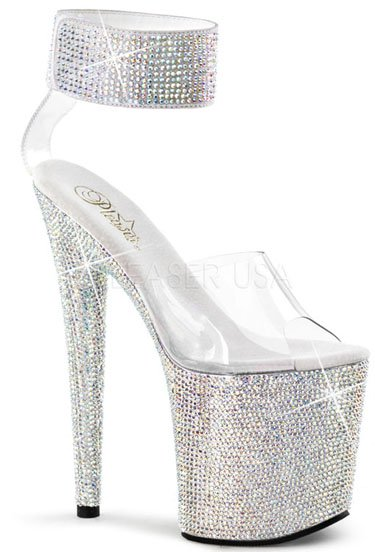 "8"" Stiletto Rhinestone Platform(BEJEWELED-812RS)"