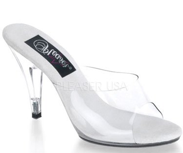 "4"" Vanity  Clear Heel (CARESS-401)"