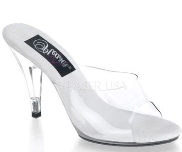 "4"" Vanity  Clear Heel (CARESS-401) (Blowout Final Sale)"