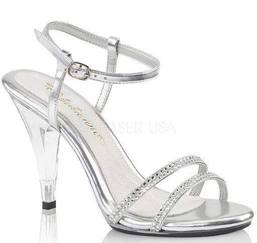"4"" Heel Sandal with Rhinestone Straps (CARESS-416)"