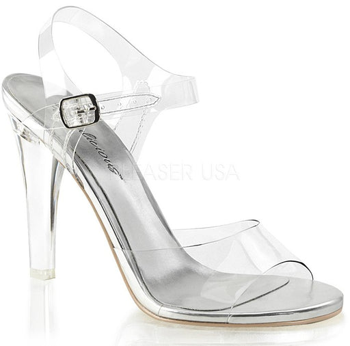 "4 1/2"" Heel Ankle Strap Sandal (CLEARLY-408)"