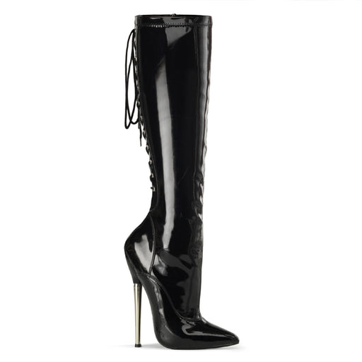 "6 1/4"" Brass Heel Knee High Boot(DAGGER-2064)"